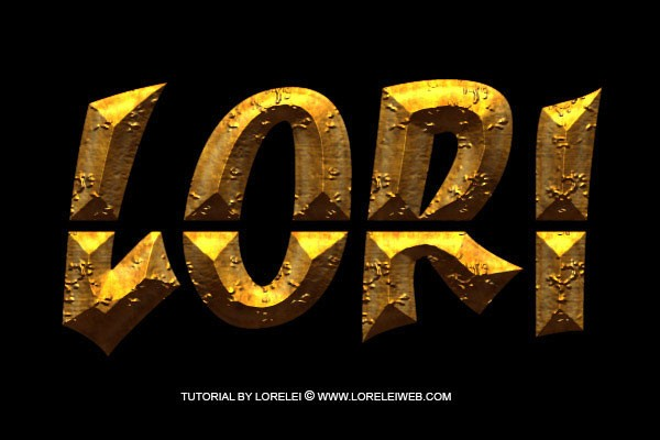 Photoshop Tutorial - Ancient Rough Gold Effect, Perfect for Game Logos and Text