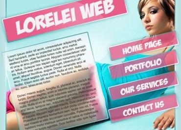 Sexy Portfolio Template Making a Gorgeous Splash Page - Photoshop Tutorials Lorelei Web Design