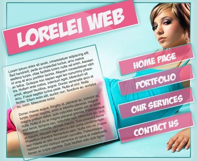 Sexy Portfolio Template Making a Gorgeous Splash Page - web layout Lorelei Web Design