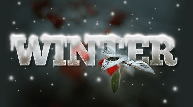 Design a Wintry Text Effect with Icicles and Snow