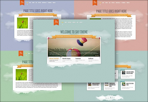 Download New Elegant Themes WP Theme - Sky