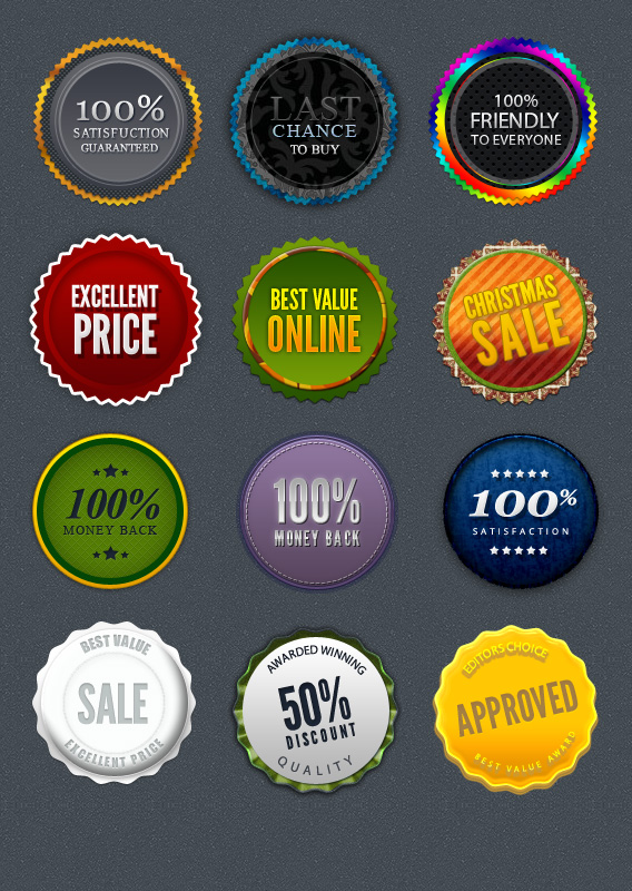 Download 10 Beautiful Badges for Web Design - Premium Downloads Lorelei Web Design