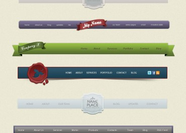 Premium Download: Navigation Menus Design - Volume 1 - Web Graphics & UI Lorelei Web Design