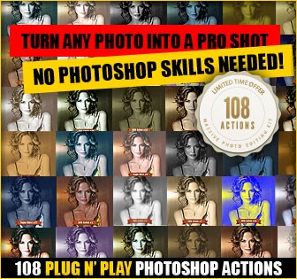 Download Our Best Selling 108 Killer Photoshop Actions Set