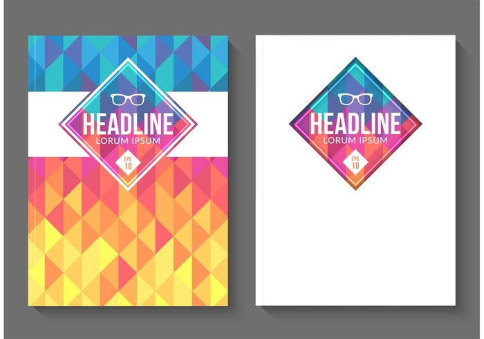 free-vector-geometric-magazine-covers