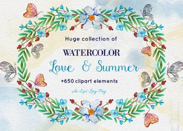 Download Over 650 Amazing Watercolor Elements - Blog Lorelei Web Design