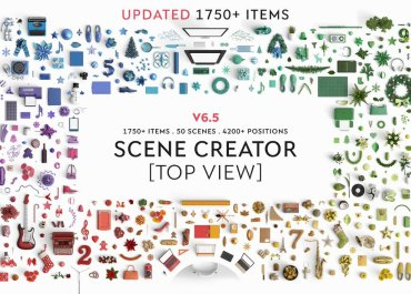 Finally A Mock Up Scene Creator With Top View Has Arrived - Stock Images Lorelei Web Design
