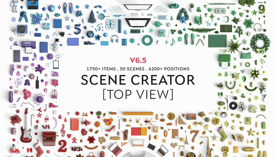 Finally A Mock Up Scene Creator With Top View Has Arrived - Web Graphics & UI Lorelei Web Design