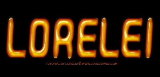 Oily and Shinny Text Effect in Photoshop - Photoshop Tutorials Lorelei Web Design