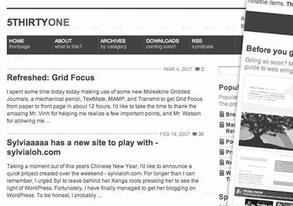 Gridfocus in 100 Excellent Free WordPress Themes