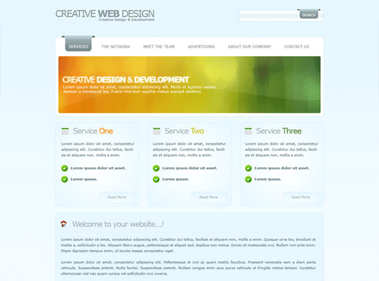 Photoshop Web Design Layout Tutorials