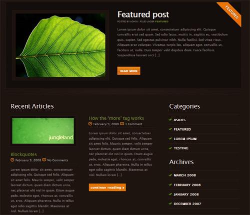 Jungleland-theme in 40 Free High-Quality WordPress Themes