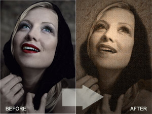 Turn Your Photo Into a Renaissance Style Old Canvas - Photoshop Tutorials Lorelei Web Design