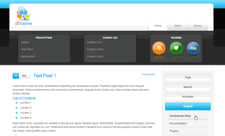 Dfmarine in 100 Excellent Free WordPress Themes