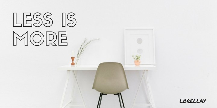 less is more minimalist style desk. hot trends in 2016