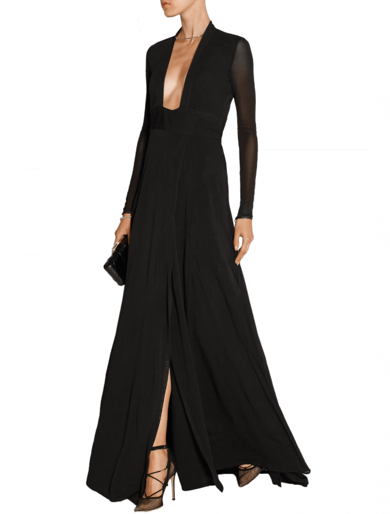 wediing dress - ISSA black gown dress for wedding