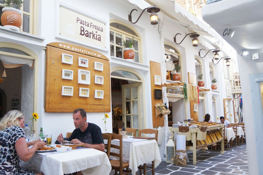 Pasta Fresca Barkia Restaurant Eat in Mykonos