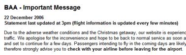 British Airways Weather News
