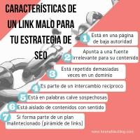Características de un link malo para el SEO