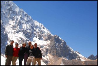 group picture at the highest point of the trek