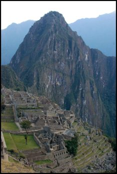 The eastern sector and Huayna Picchu mountain in the background