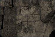 detail d'un mur construit sans mortier