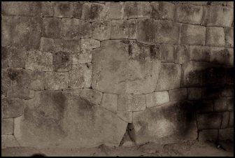 détail de mur inca