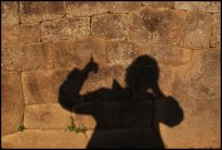 ombre chinoise sur mur inca / shadow on inca wall