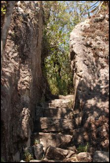 stairway carved into the rock