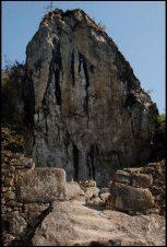 the 50-feet rock shrine where a grave was found