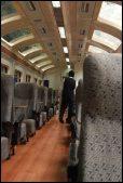 dans le train backpacker Peru Rail