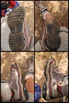 mes tennis après le trek Salkantay et le MaPi / My sneakers after Salkantay trek and MaPi