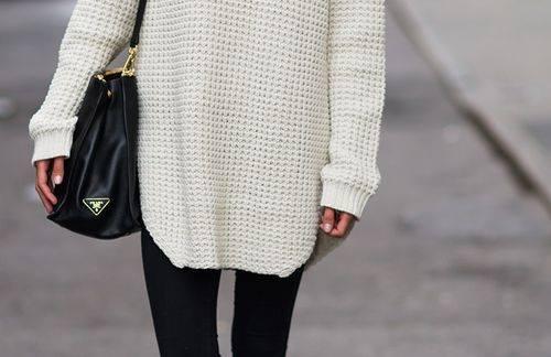 túlméretezett pulóver
