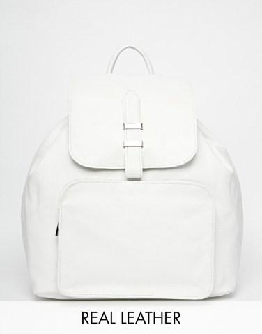 ASOS fehér bőr hátizsák