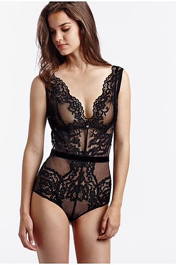 Intimissimi Sheer Lace and Velvet body