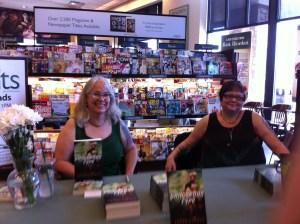 Loren Rhoads and Martha Allard at the Barnes & Noble in Genesee Valley Mall. Photo by Kathleen Rhoads.