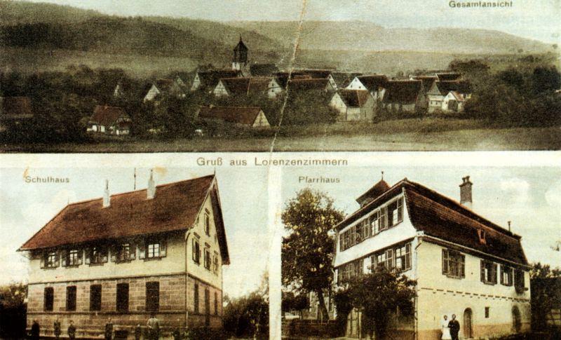 Lorenzenzimmern historische Postkarte