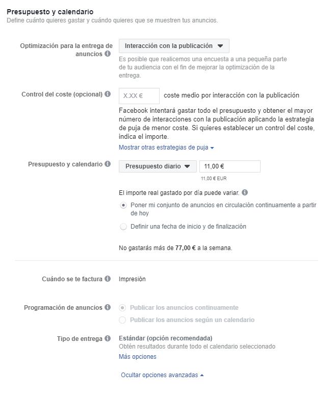 presupuesto - Guía fácil para crear tus anuncios en Facebook Ads🚀
