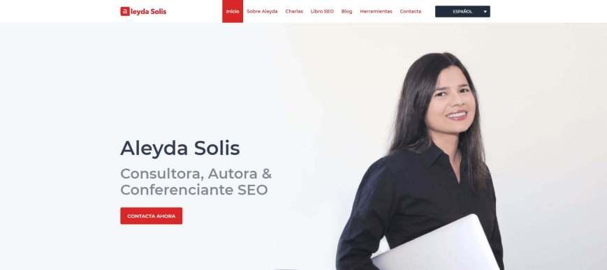 ALEYDA SOLIS 1 - Las webs de los 20 especialistas en posicionamiento SEO más importantes de España 🏆