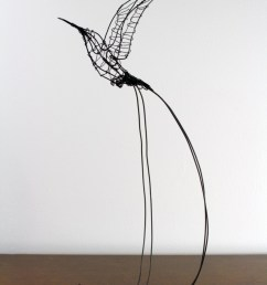 image of wire sculpture designs wire sculpture a hummingbird wiring diagrams  [ 853 x 1280 Pixel ]