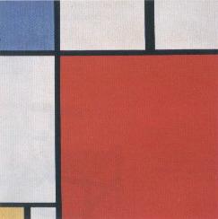 Mondrian, Composizione con rosso, giallo ,blu