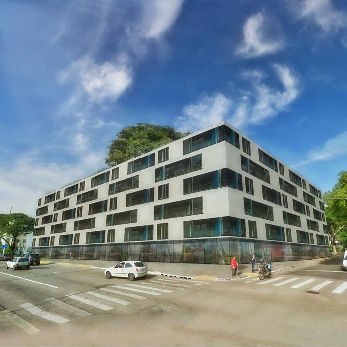 Apartments Block Av. Farrapos 369 - Plaster - Street view