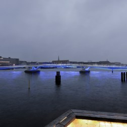 Copenhagen Harbour Bridge - Evening view from the theater