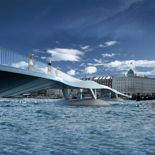Copenhagen Harbour Bridge - View from the water