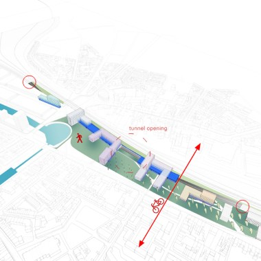 Gent Dampoort - Tunnel option 705px
