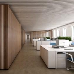 OVS HQ Refurbishment - Corridor in building B