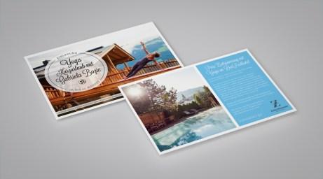 Grafikdesign/Branding: Einladung Journalisten Yoga | ZillerSeasons Hotel & Chalets