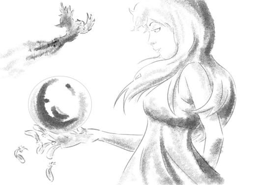 Disegno live di Debora Ferretti.
