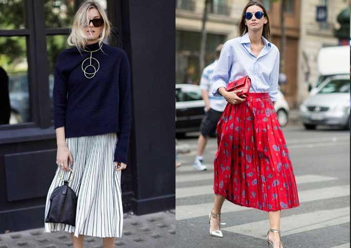 As melhores ideias de looks da semana - Saia Midi