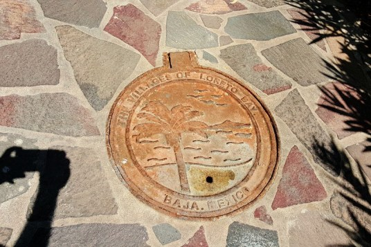 Even the manhole covers in Loreto Bay look great.